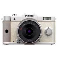 Pentax Q w/ 8.5mm Prime Lens & 5-15mm Zoom Lens (White) Compact System Camera