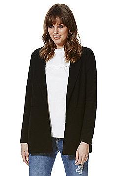 Vero Moda Crepe Long Line Blazer - Black