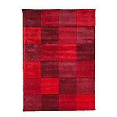 Infinite Inspire Squared Oblong Red Rug - 80X150 cm