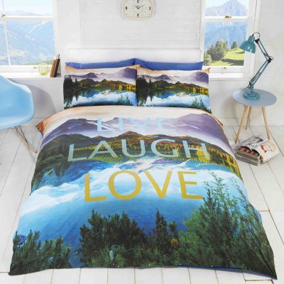Rapport Live Laugh Love Duvet Cover Set - Single