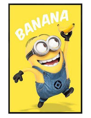 Despicable Me Gloss Black Framed Banana! Poster