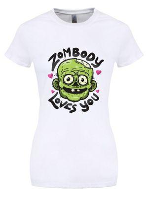 Zombody Loves You Women's T-shirt, White