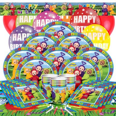 Teletubbies Party Pack - Deluxe Party for 16