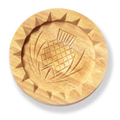 Large Scottish Traditional Wooden Shortbread Mould Thistle Design