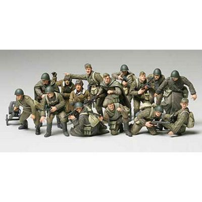 Tamiya Military Kit 1:48 32521 Russian Infantry & Tank Crew Set