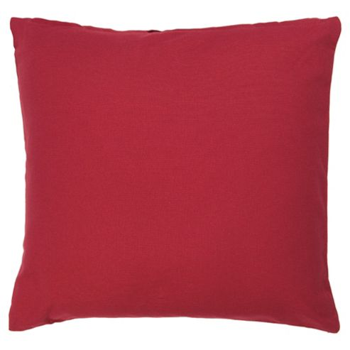 Tesco Value Cotton Cushion, Berry
