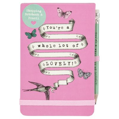 You're a Whole Lot of Lovely! A6 Notebook, Includes Pencil, 192 Pages