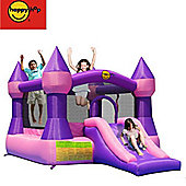 Large Turret Bouncy Castle with Slide Pink & Purple