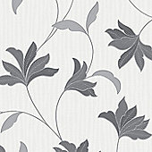 Superfresco Alannah Floral Grey/Silver Wallpaper