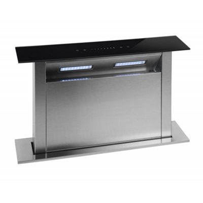 kitchen island extractor hoods buy cookology cdd600bk 60cm island kitchen downdraft 5064