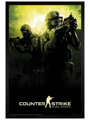 Counter Strike Black Wooden Framed Team Poster 61x91.5cm