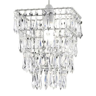 4 Tier Acrylic Crystal Ceiling Pendant Light Shade Chandelier