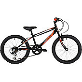 "Freespirit Scar 20"" Wheel 6spd Junior Mountain Bike Black/Orange"