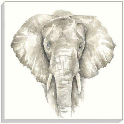 Safari Elephant Canvas Art