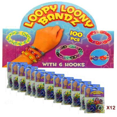 Loopy Loony Bandz Bracelet Maker (12 Packs) 1200 Pieces
