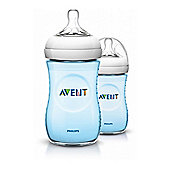 Philips Avent Natural Feeding Botte Twin Pack SCF6954/27 in Blue