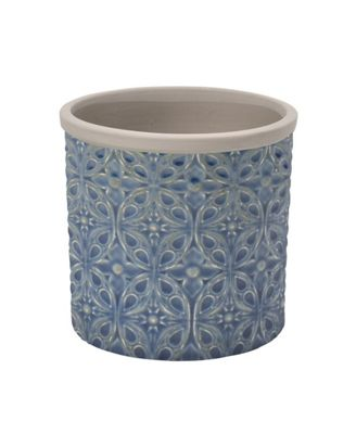 Burgon & Ball Porto Indoor Ceramic Plant Pot Small in Dark Blue