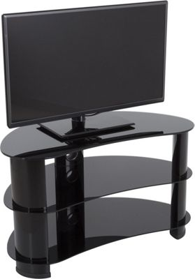 AVF 42 Inch Reflections - Jelly Bean Curved TV Stand - Black