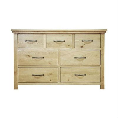 London Light Oak 3 Over 4 Chest of Drawers