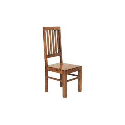 Indian Hub Cube Sheesham High Back Slat Chair