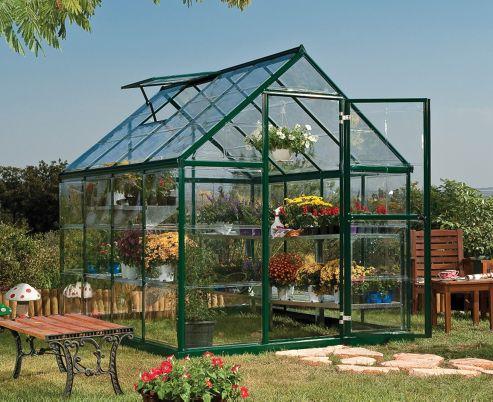 Palram Harmony 6x8 - Green Greenhouse - Polycarbonate and Aluminium Frame