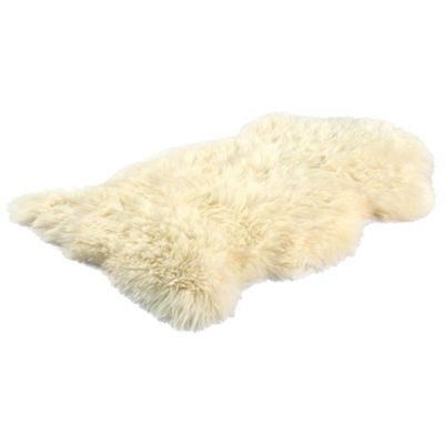 Bowron Sheepskin Long Wool Gold Star Rug in Champagne - 95cm H x 57cm W (One Piece)