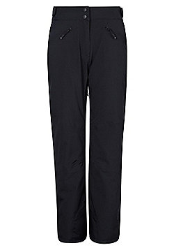 Mountain Warehouse Isola Womens Ski Pant Waterproof & Breathable w/ Taped Seams - Black