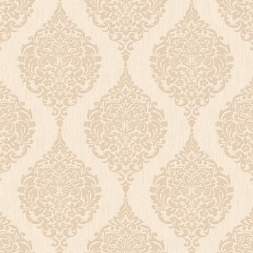 Superfresco Luna Damask Gold Glitter Wallpaper