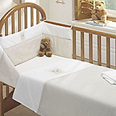 Bedtime Bear 3 Piece Cot Bale - Quilt, Bumper and Fitted Sheet
