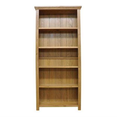 London Light Oak Large Bookcase