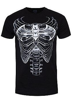DC Comics Batman Ribcage Logo Men's T-shirt, Black. - Black