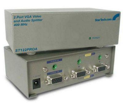 StarTech 2 Port High Resolution 400MHz VGA Video and Audio Splitter