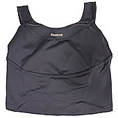 Reebok Statement PlayDry Cropped Womens Training Fitness Tank Vest - Grey