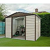 Yardmaster 9'4x12' Metal shiplap shed - light brown