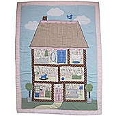 Hand Embroidered Cot Wrap Doll House Design Powell Craft