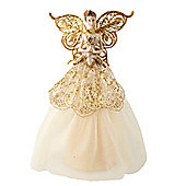 Cream & Gold Fairy Christmas Tree Topper
