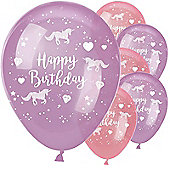 """Unicorn Sparkle Balloons - 11"""" Latex"""