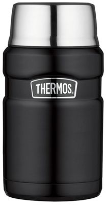 Thermos 0.71 Litre Matt Black Stainless King Food Flask