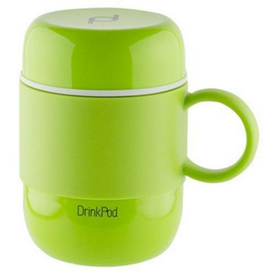 Grunwerg Pioneer Vacuum Insulated Drink Pod Mug with Handle Green 280ml