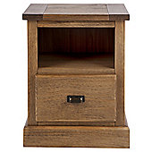 Portobello 1 Drawer Bedside Table, Rustic Pine