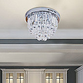 Homcom Round Crystal Lamp Chandelier Ceiling Mount Fixture Modern (7 Light)