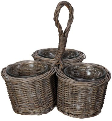 3 Bottle Caddy Basket