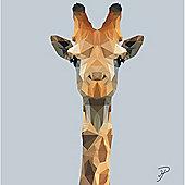 Birthday, Anniversary Greetings Card - Giraffe Animal Design - Blank