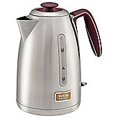 Tefal KI2605UK Maison Kettle Stainless Steel, 1.7 L - Pomegranate Red