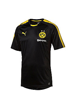 Puma Borussia Dortmund BVB 2017/18 Mens Training Shirt Black - L - Black