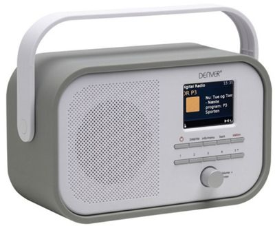 "Denver DAB-40 Grey Portable DAB+ FM Digital Radio With Alarm Clock And 2.4"" Colour TFT Display"