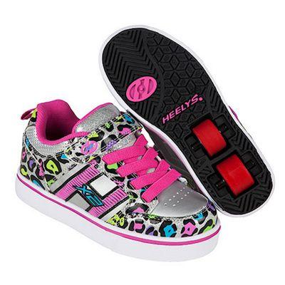 Heelys X2 Silver Cheetah Bolt Skate Shoes - Size 3
