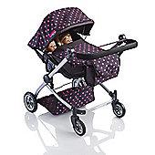 Molly Dolly 9651A Twin Babyboo 2 in 1 Doll Stroller