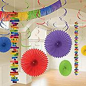 Rainbow Paper & Foil Room Decorating Kit