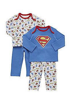 DC Comics 2 Pack of Superman Pyjamas - Multi